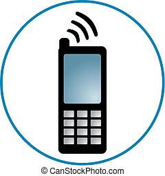 携帯電話, clipart