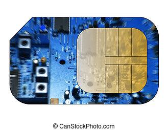 携帯電話, sim, カード