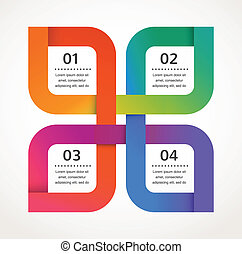 摘要设计, 同时,, infographics, 背景, 矢量, 图标