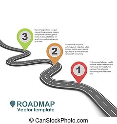 摘要, 事務, roadmap, infographic, design.