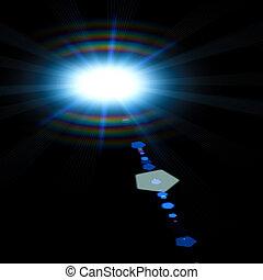 摘要, 光, 太陽, 以及, 喜慶, 背景, 為, 你, 設計