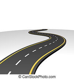 摘要, 去, 高速公路, 地平线