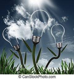 摘要, 可選擇 能源, 背景, 為, 你, 設計