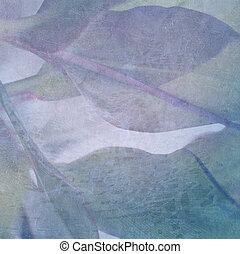 摘要, 叶子, 开裂, 背景, textured