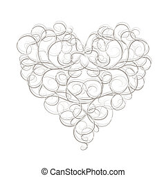 摘要, 心形狀, 為, 你, 設計