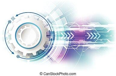 摘要, 技術, 速度, concept., 矢量, 背景