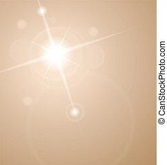 摘要, 星, 由于, 透鏡, 閃光
