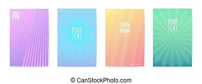 摘要, 時髦, 海報, set., 流體, 形狀, 小冊子, template., 旗幟, 身份証, design., 矢量, 插圖