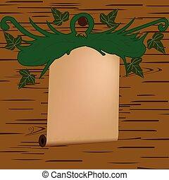 摘要, 木頭, 捆, 背景, 簽署