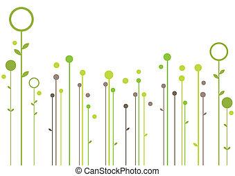 摘要, 植物群的设计