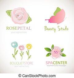 摘要, 植物, 設計, 為, 標識語
