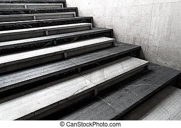 摘要, 樓梯, 步驟