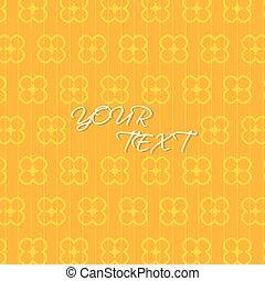 摘要, 橙, 黃色的背景, 樣板, 矢量