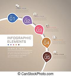 摘要, 流動, 圖表,  infographics