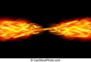 摘要, 火焰