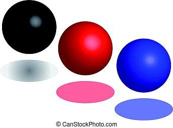 摘要, 球, 被隔离, 在懷特上, 背景