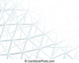摘要, 白色 背景, 由于, 3d, 格子