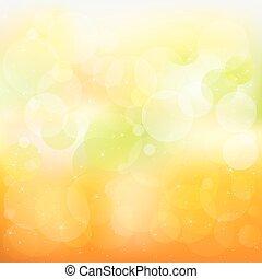 摘要, 矢量, 橙, 以及, 黃色的背景