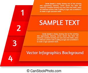 摘要, 矢量, infographics, 背景