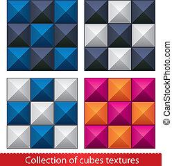 摘要, 矢量, pattern., seamless, 立方