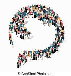 摘要, 符號, 人們, 人群