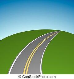 摘要, 簡單, 高速公路, 消失, 在, 距離, 矢量, 背景。