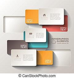 摘要, 紙, 3d, infographics