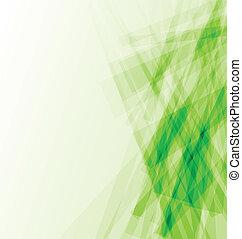 摘要, 綠色的商務, 背景, 卡片