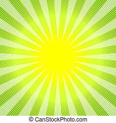 摘要, 綠色黃色, 背景, (vector)