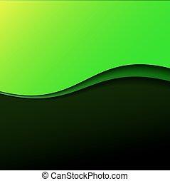 摘要, 綠色, 條紋, 背景, 波浪