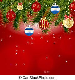 摘要, 美麗, 圣誕節和新年, 背景。, 矢量, 插圖