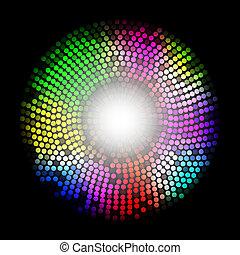 摘要, 背景, 多种顏色