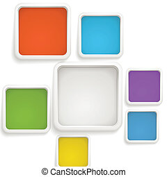 摘要, 背景, ......的, 顏色, boxes., 樣板, 為, a, 正文
