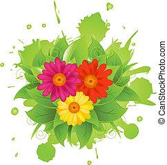 摘要, 花, 以及, 污點