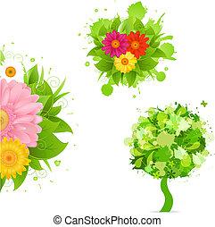 摘要, 花, 以及, 污點, 集合