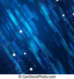 摘要, 蓝色, 商业, 背景
