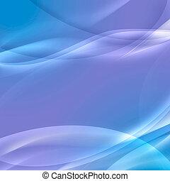 摘要, 藍色波浪, 背景
