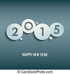 摘要, 藍色, 新年, 愿望, 輪, 樣板