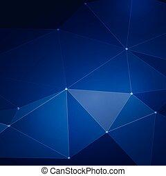 摘要, 藍色, 濾網, 三角形, 背景, 矢量, 插圖