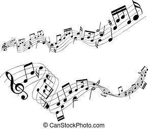 摘要, 音樂 注意