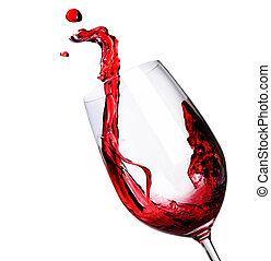 摘要, 飞溅, 红的酒