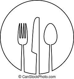 摘要, 食物, 菜單, 背景