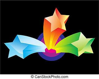摘要, 鮮艷, 星, 被隔离