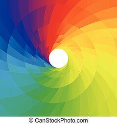 摘要, 鮮艷, 螺旋, 背景