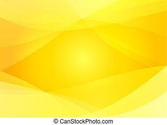 摘要, 黃色, 以及, 橙色 背景, 牆紙