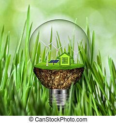 摘要, eco, backgrounds., 可選擇 能源, 以及, 力量, 概念