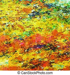 摘要, impressionist-style, 背景, 由于, grunge, 結構