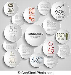 摘要, infographic, 上色, 樣板, 輪