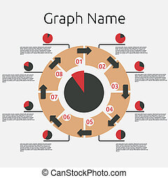 摘要, infographics, template.