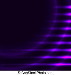 摘要, space., 光, 矢量, 背景, 紫色, 模仿